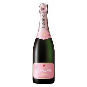 Bottle of Lanson Brut Rose Champagne NV 75cl